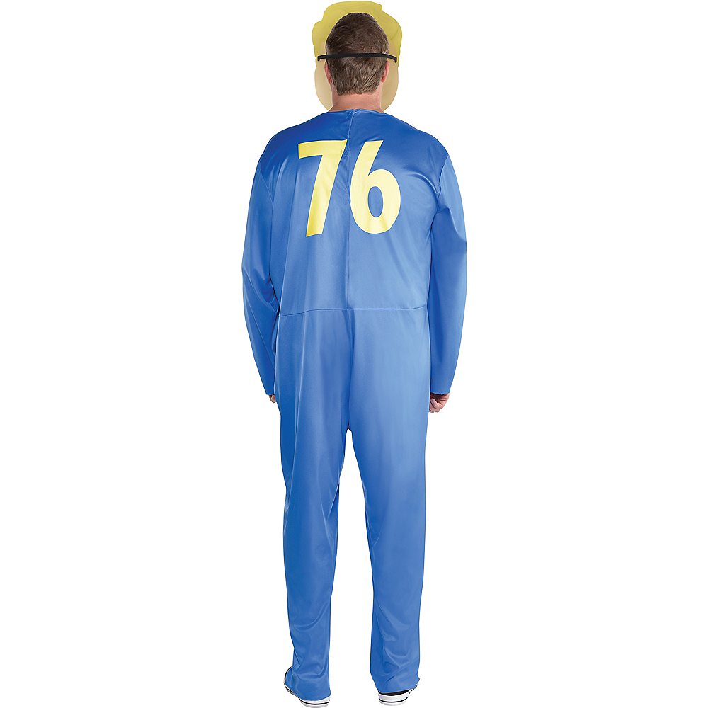 Adult Vault Boy Costume Plus Size - Fallout Shelter Image #3