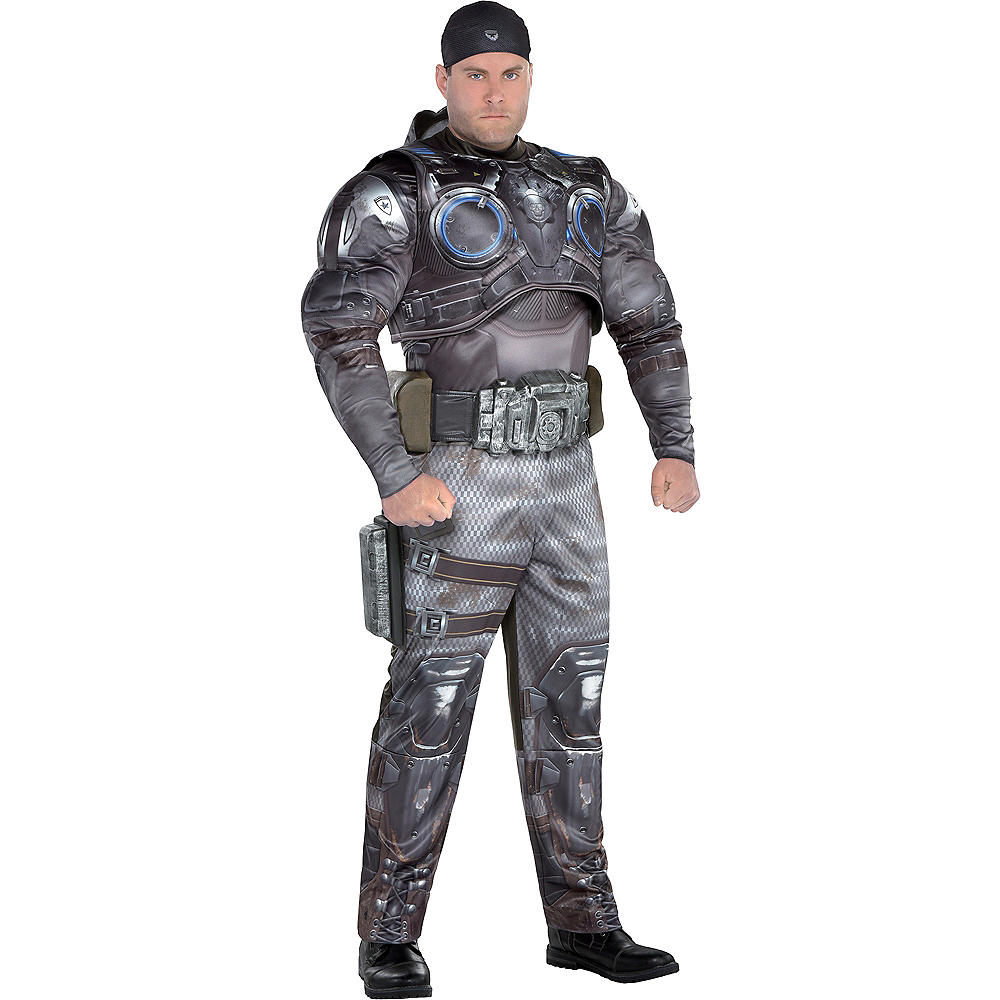 Adult Marcus Fenix Muscle Costume Plus Size - Gears of War Image #1