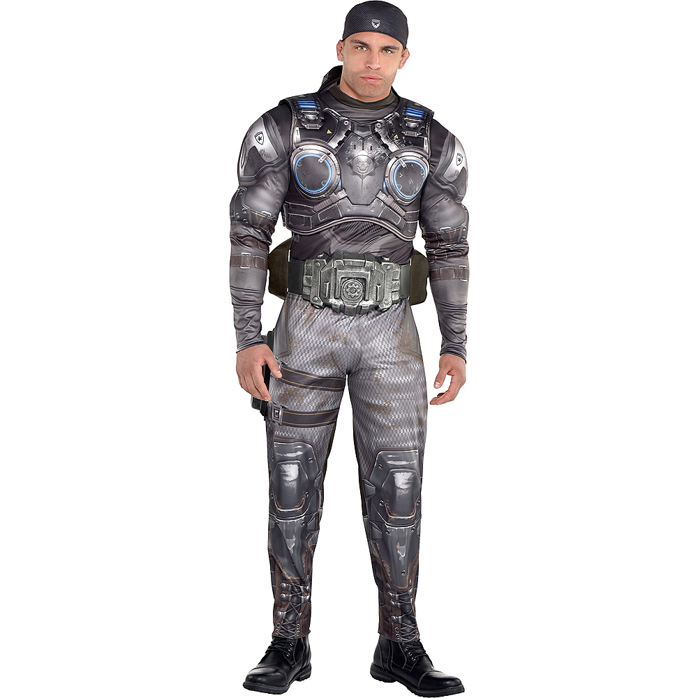 Adult Marcus Fenix Muscle Costume - Gears of War Image #1