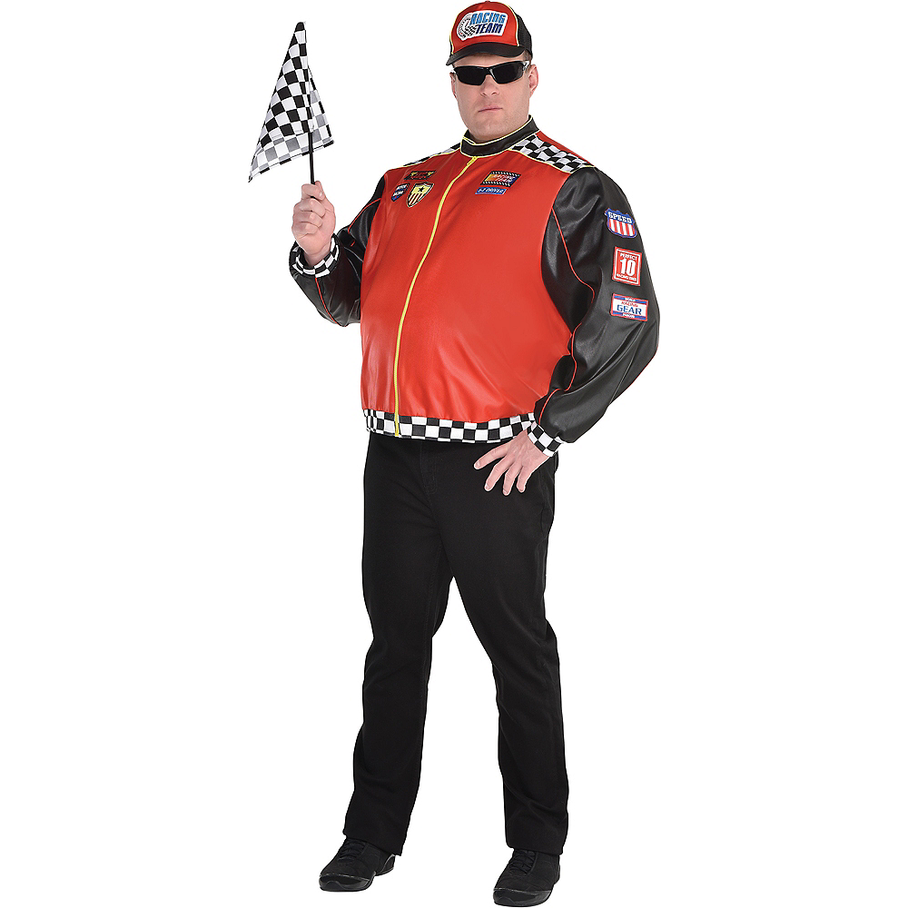 Nav Item for Adult Fast Lane Driver Costume Plus Size Image #1