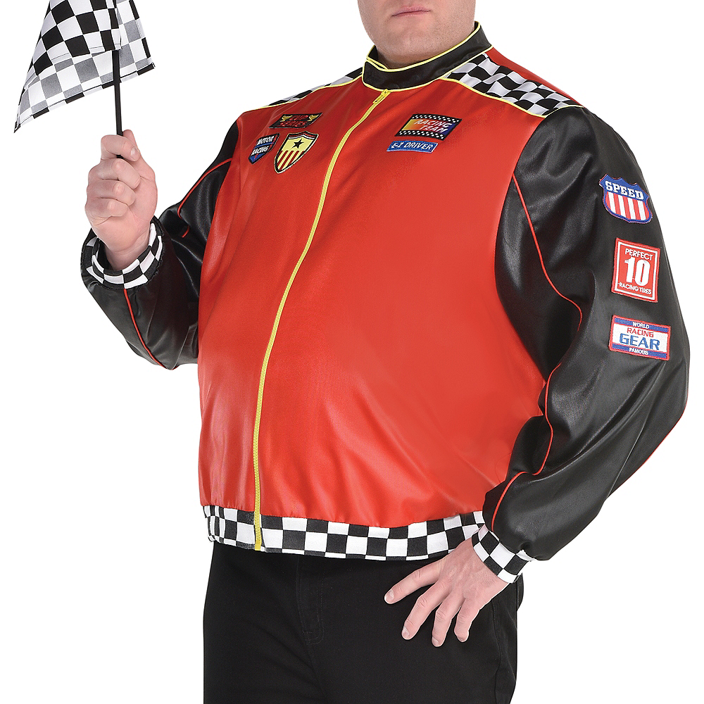 Adult Fast Lane Driver Costume Plus Size Image #4