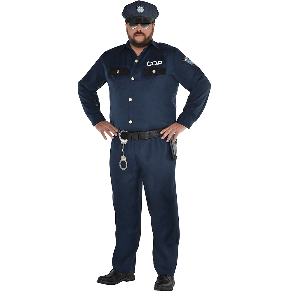 Adult Police Officer Costume Plus Size Image #1
