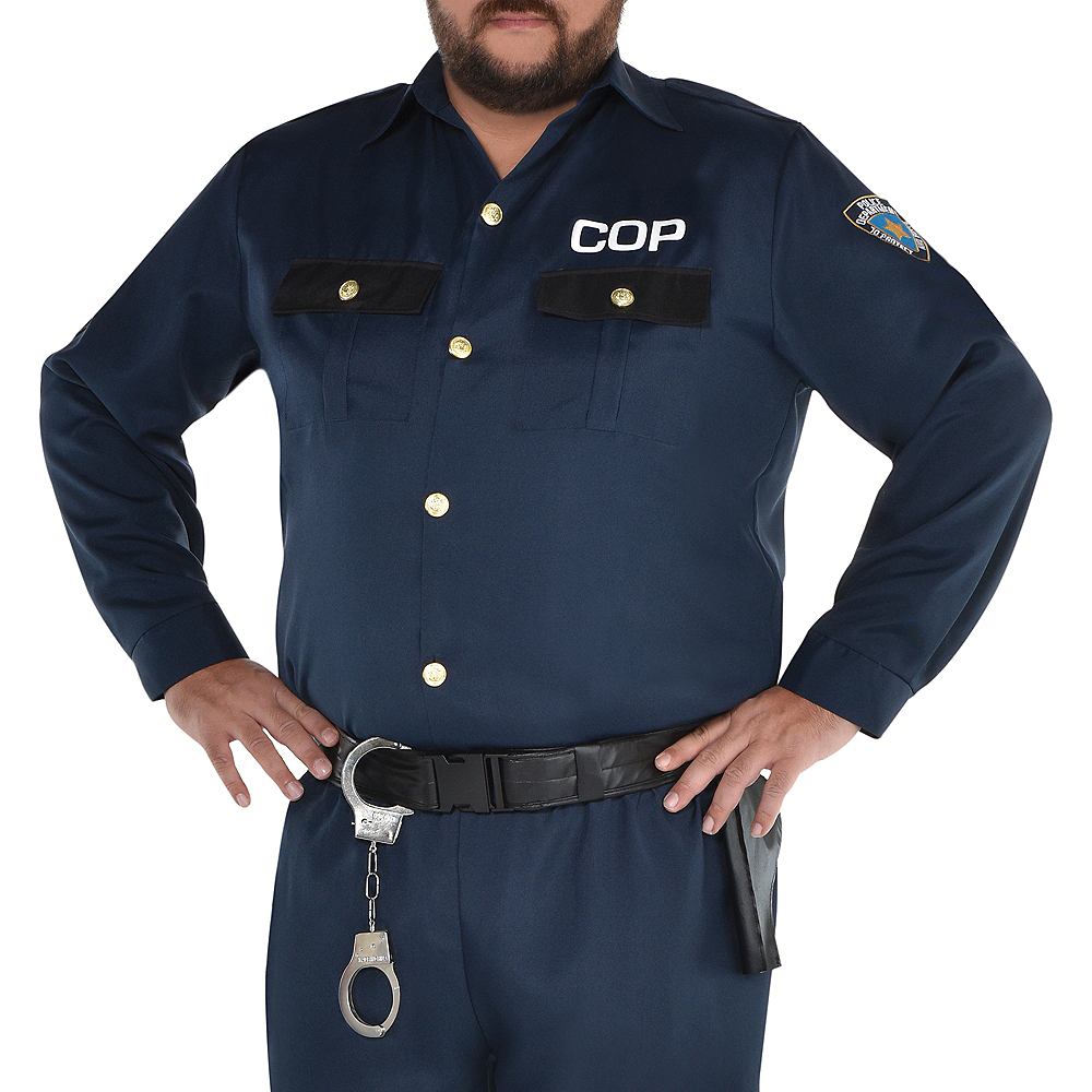 Adult Police Officer Costume Plus Size Image #3