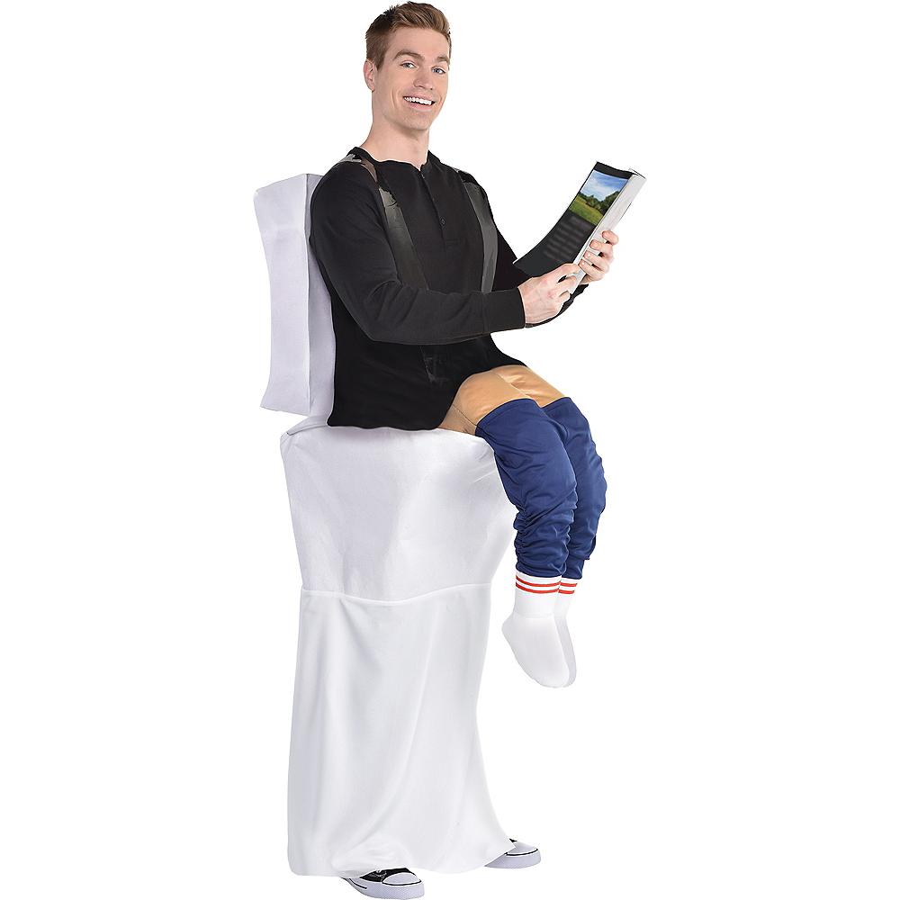 Adult Bathroom Jon Ride-On Costume Image #1