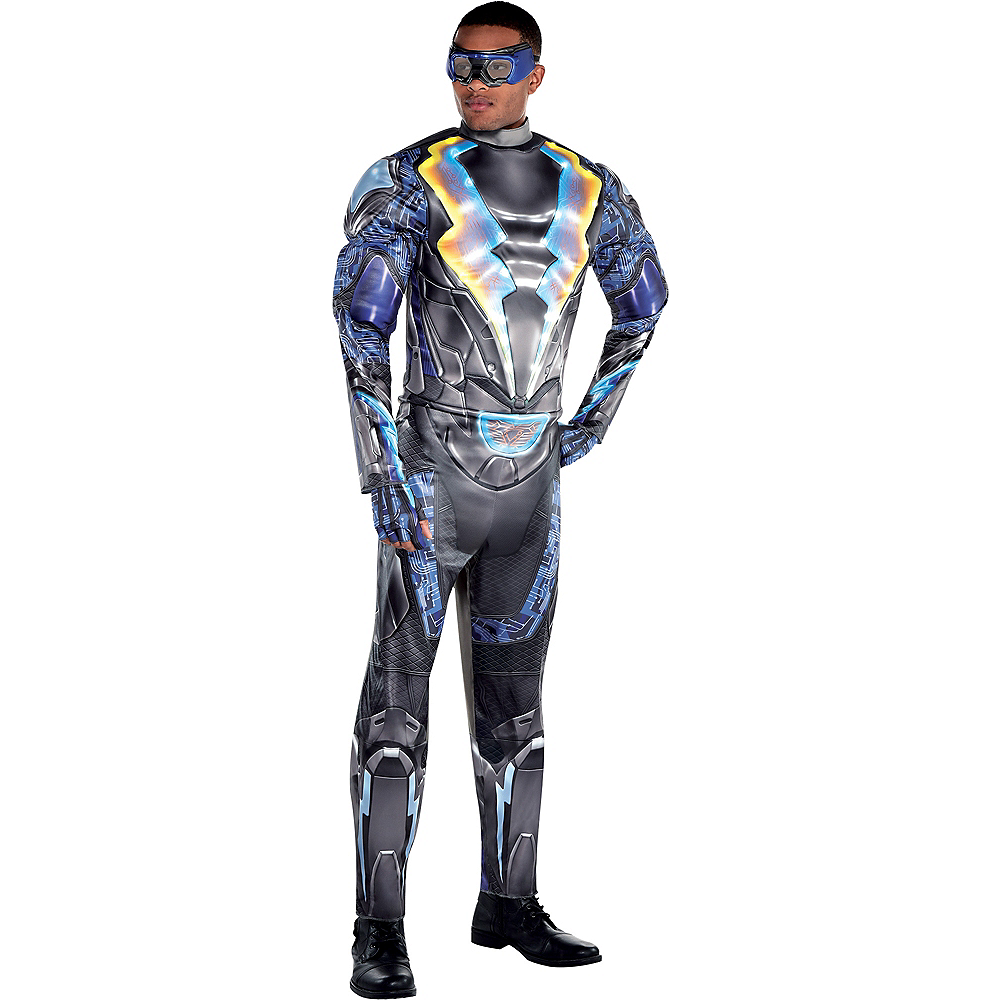 Adult Light-Up Black Lightning Muscle Costume Image #1