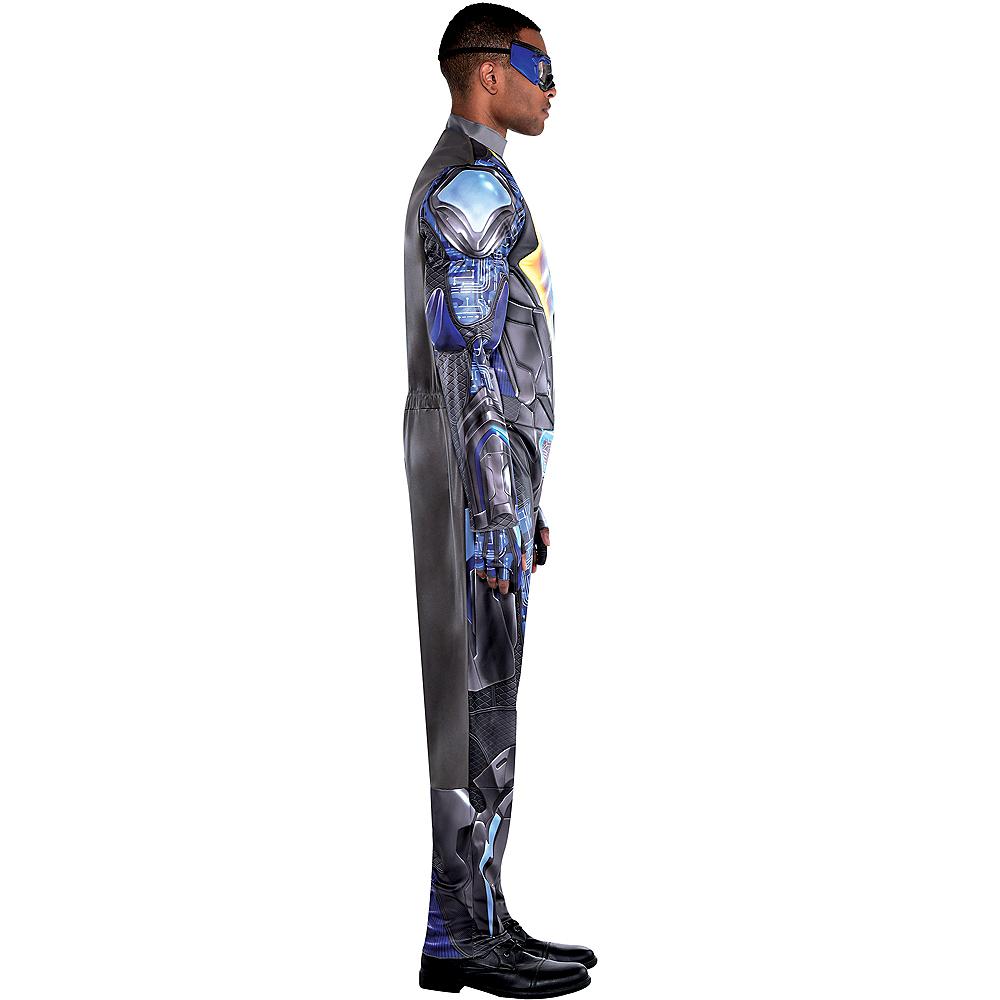 Adult Light-Up Black Lightning Muscle Costume Image #2