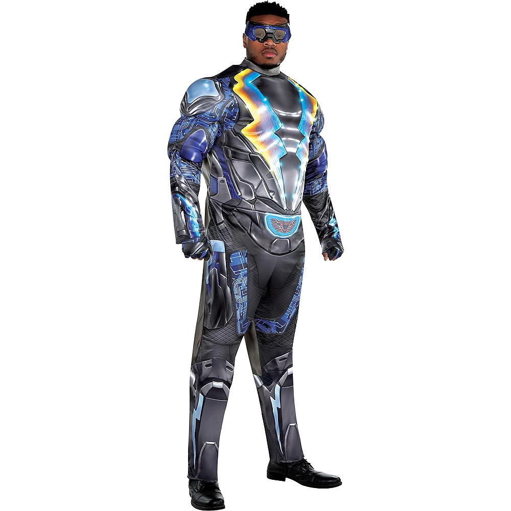 Adult Light-Up Black Lightning Muscle Costume Plus Size Image #1