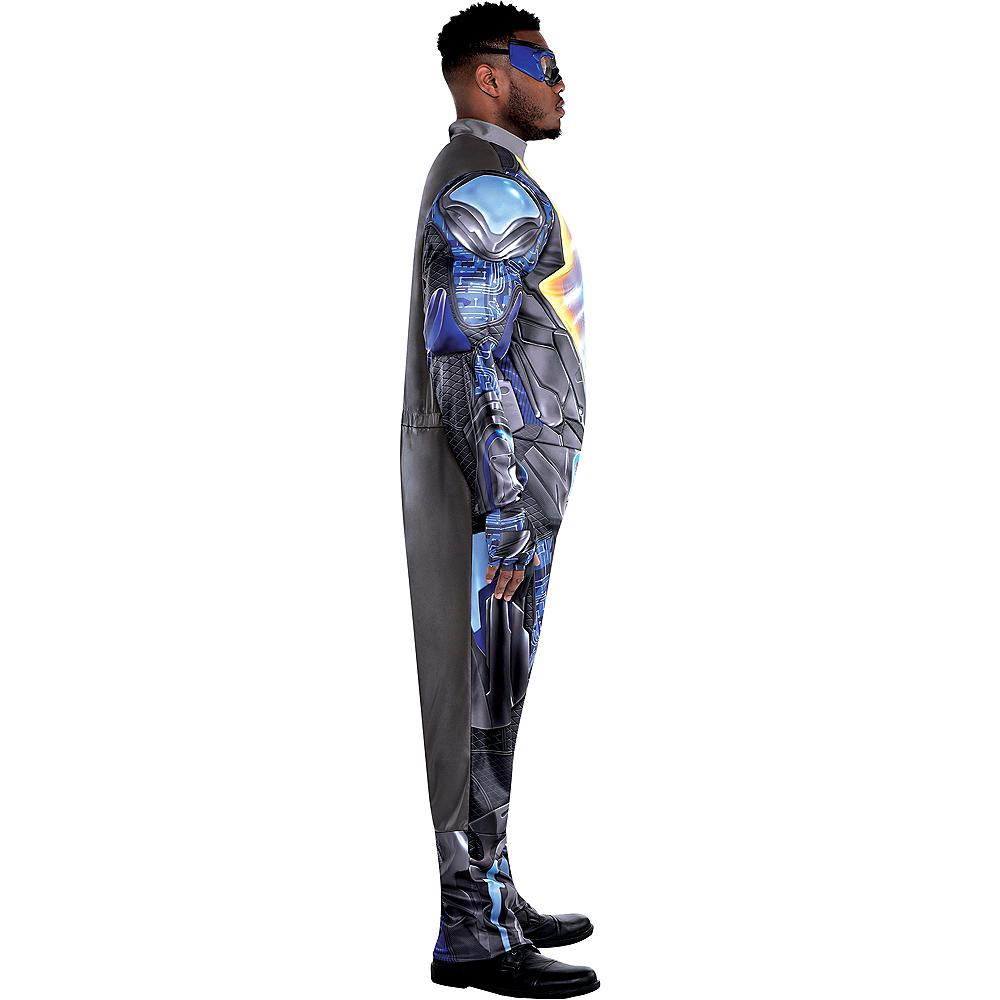 Adult Light-Up Black Lightning Muscle Costume Plus Size Image #2