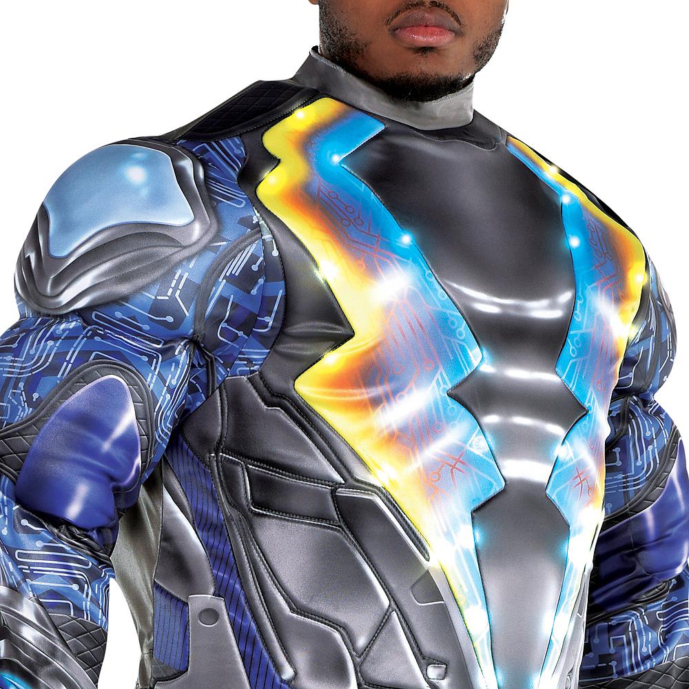 Adult Light-Up Black Lightning Muscle Costume Plus Size Image #4