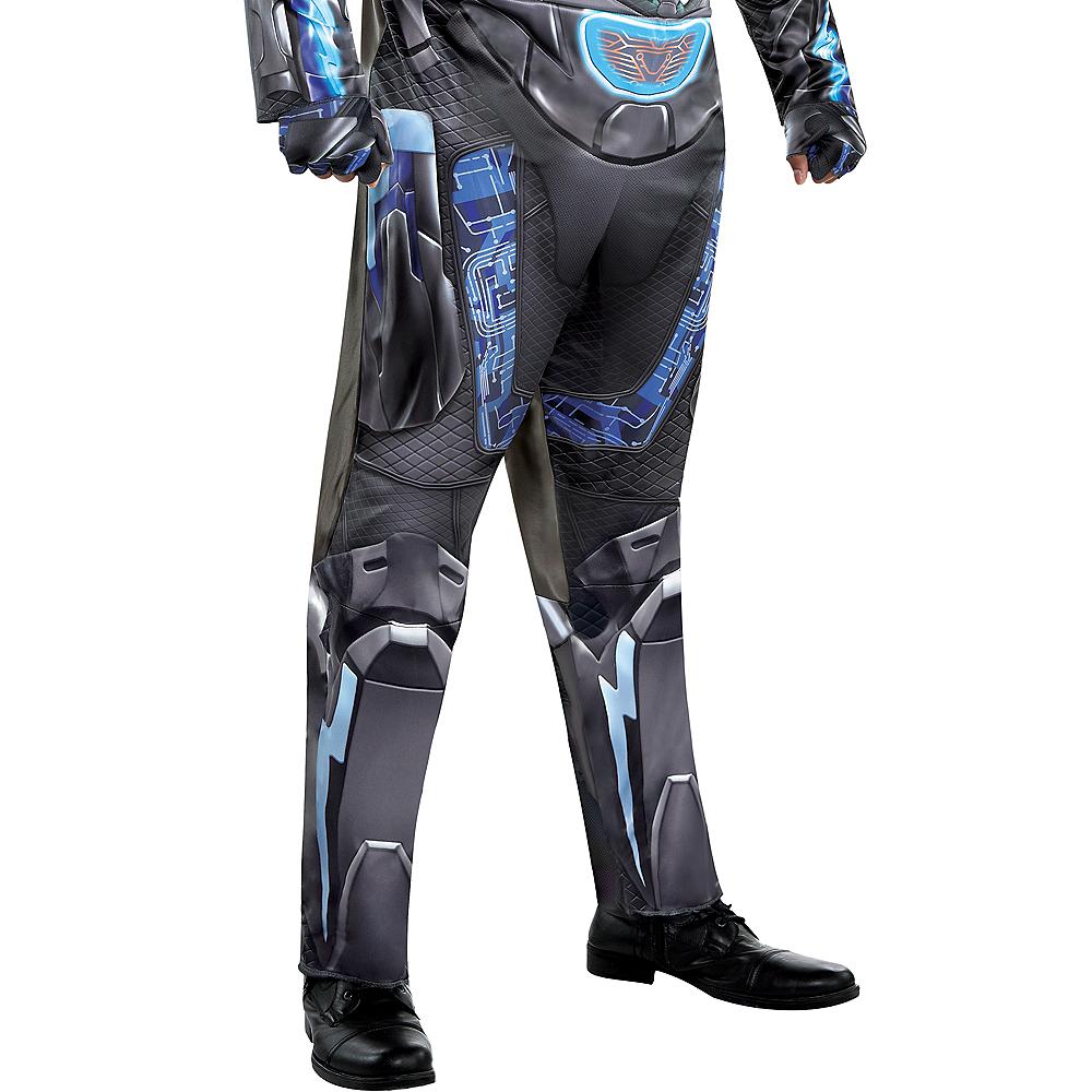Adult Light-Up Black Lightning Muscle Costume Plus Size Image #5