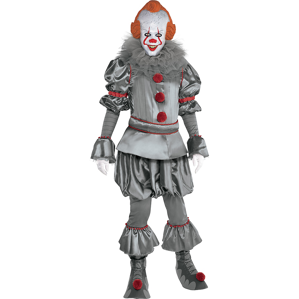 Adult Tattered Pennywise Costume - It Chapter Two Image #1