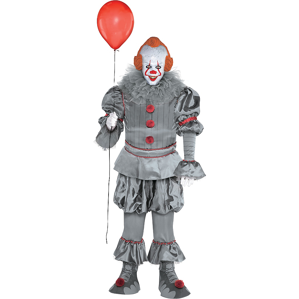 Nav Item for Adult Tattered Pennywise Costume Plus Size - It Chapter Two Image #1