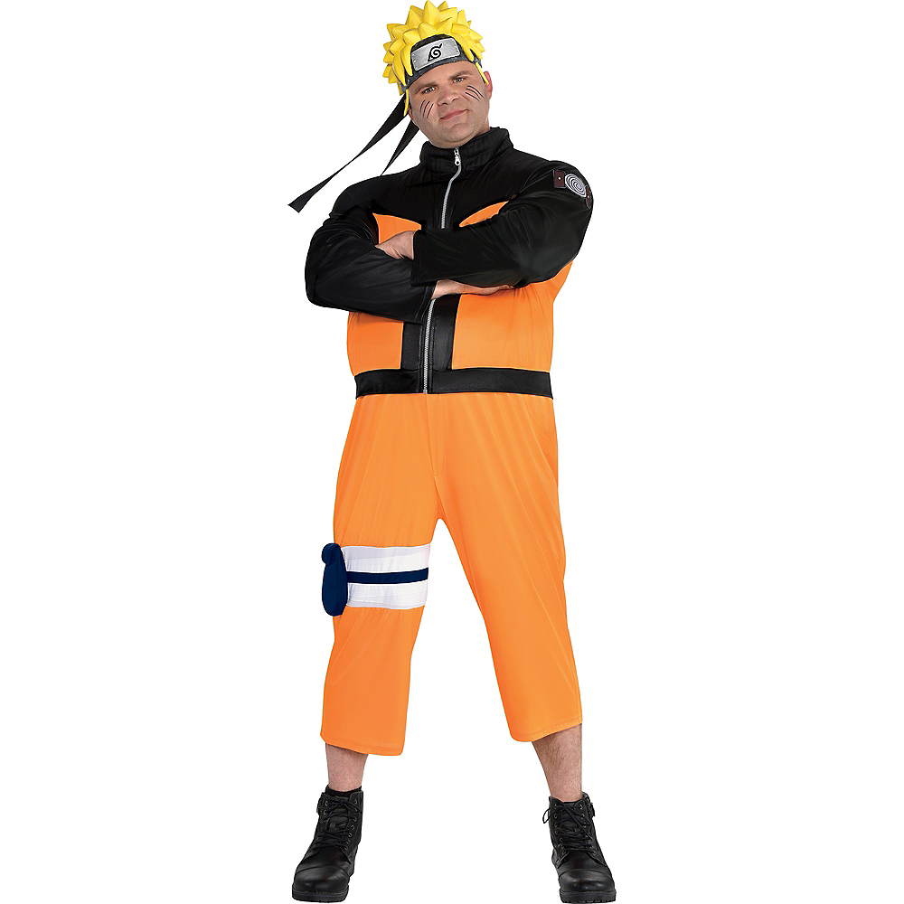 Adult Naruto Costume Plus Size Image #1