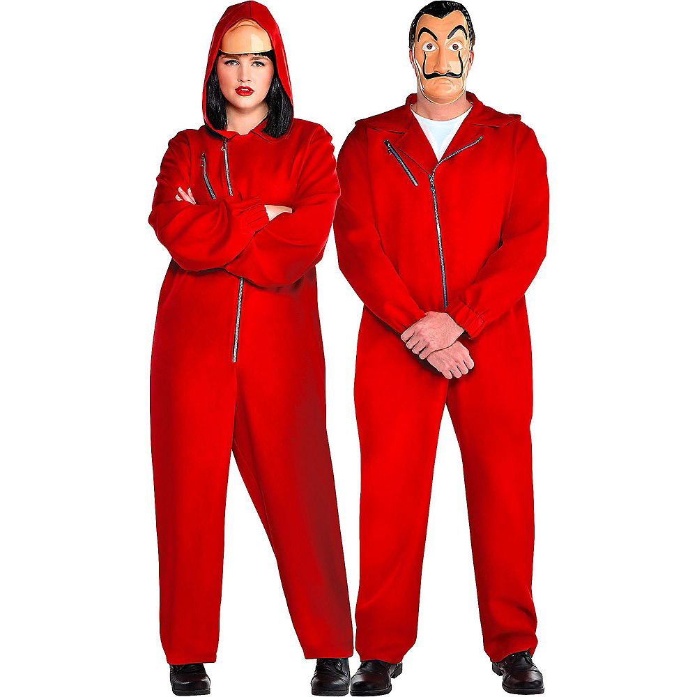 Adult Money Heist Costume Plus Size Image #1