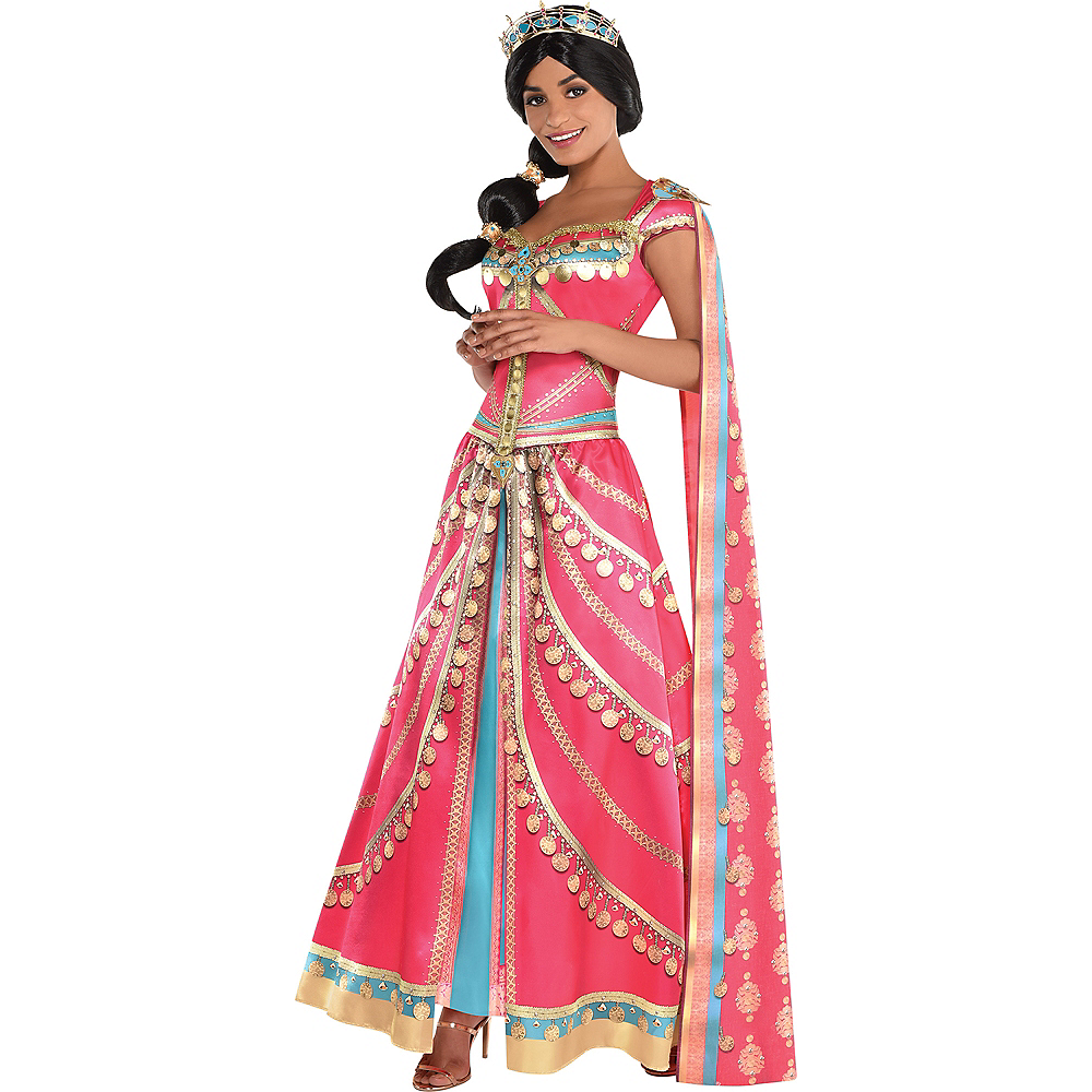 Nav Item for Adult Royal Jasmine Costume - Aladdin Live-Action Image #1