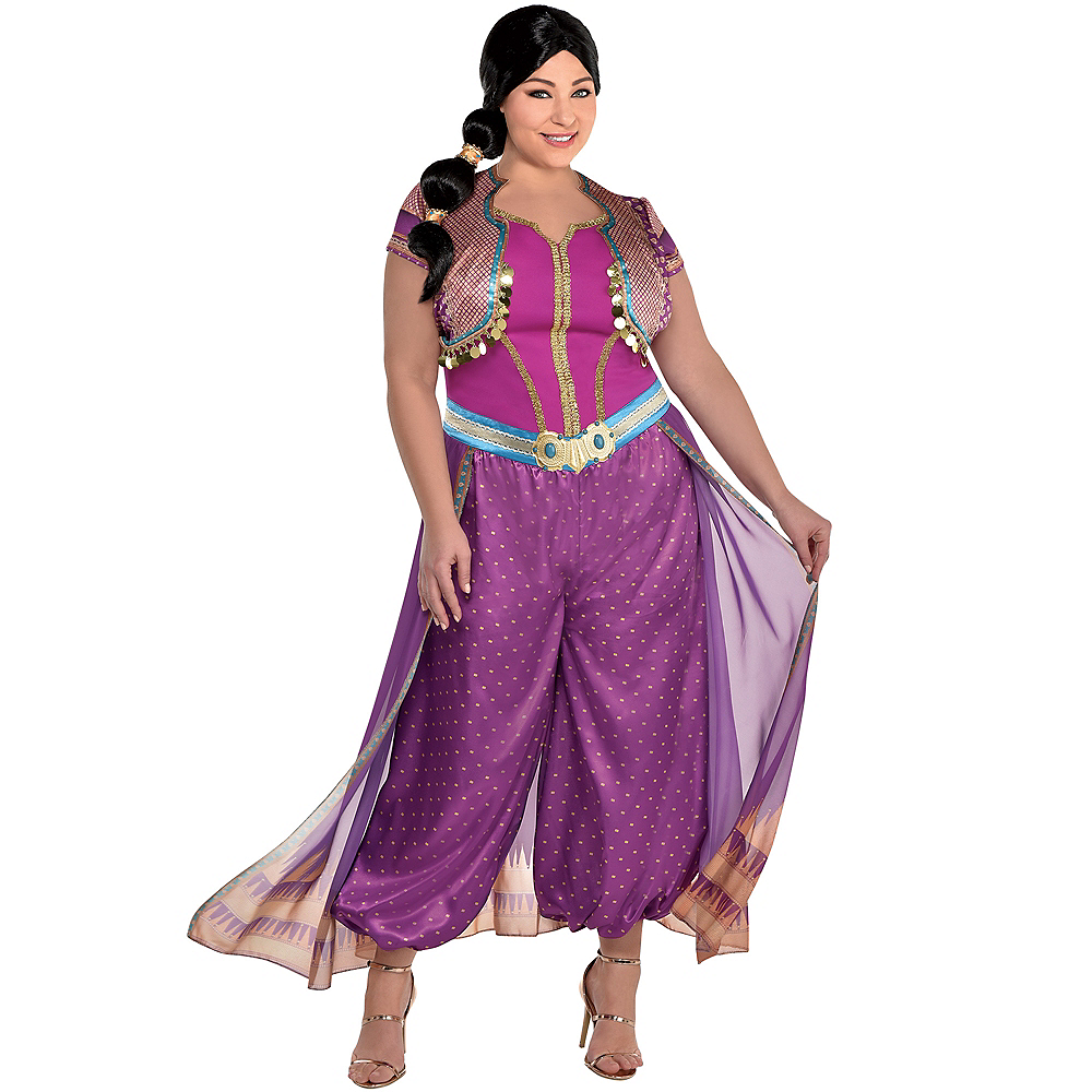 Adult Purple Jasmine Costume Plus Size - Aladdin Live-Action Image #1