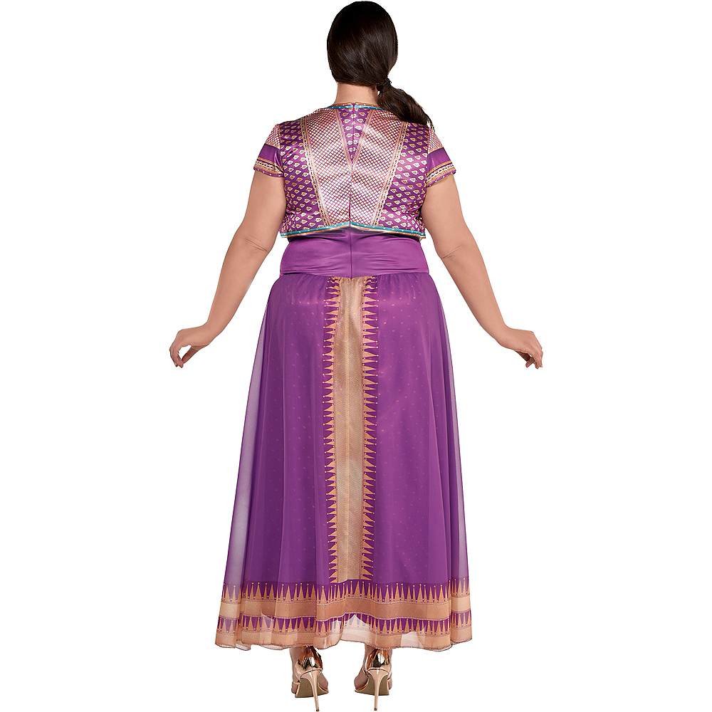 Adult Purple Jasmine Costume Plus Size - Aladdin Live-Action Image #3