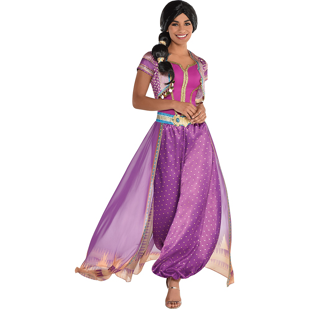 Adult Purple Jasmine Costume - Aladdin Live-Action Image #1