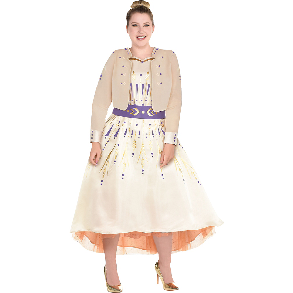 Nav Item for Adult Act 1 Anna Costume Plus Size - Frozen 2 Image #1