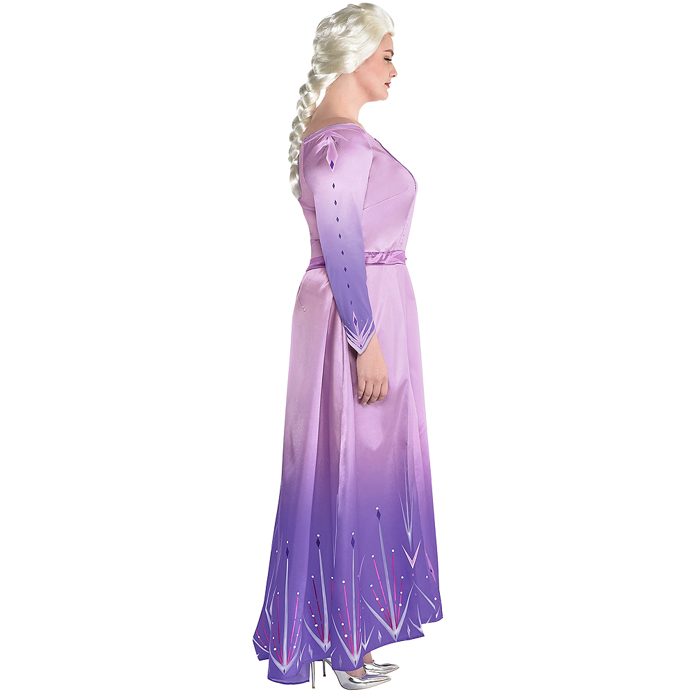 Nav Item for Adult Act 1 Elsa Costume Plus Size - Frozen 2 Image #2