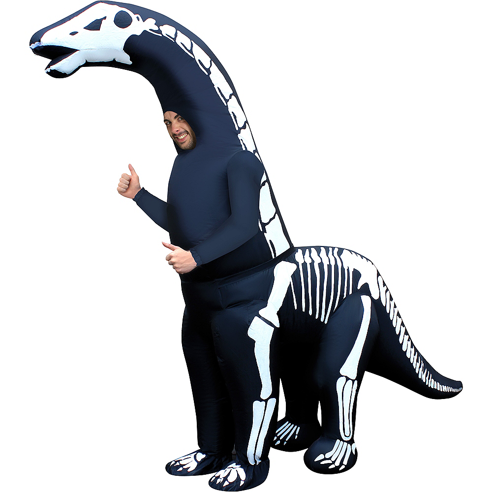 Nav Item for Adult Inflatable Skeleton Diplodocus Costume Image #1