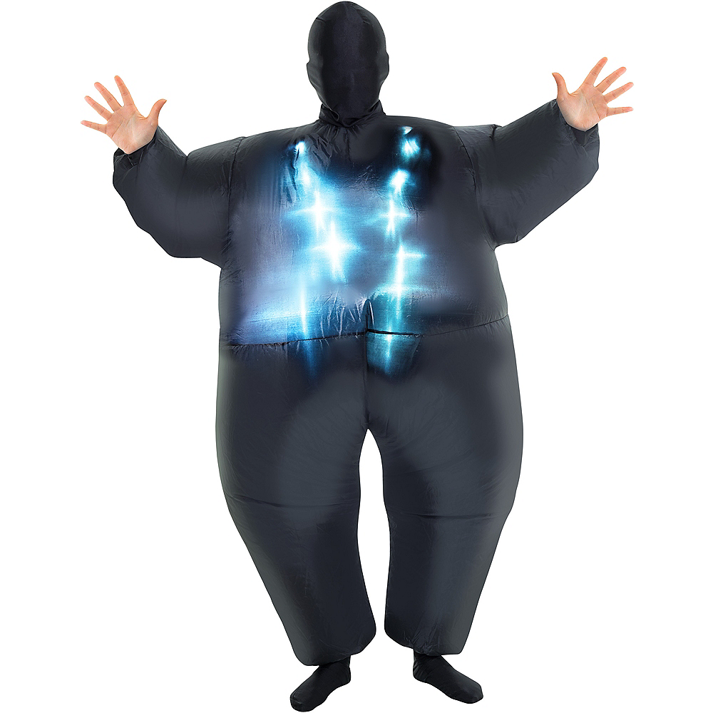 Child Light-Up Inflatable Black Morphsuit Image #1