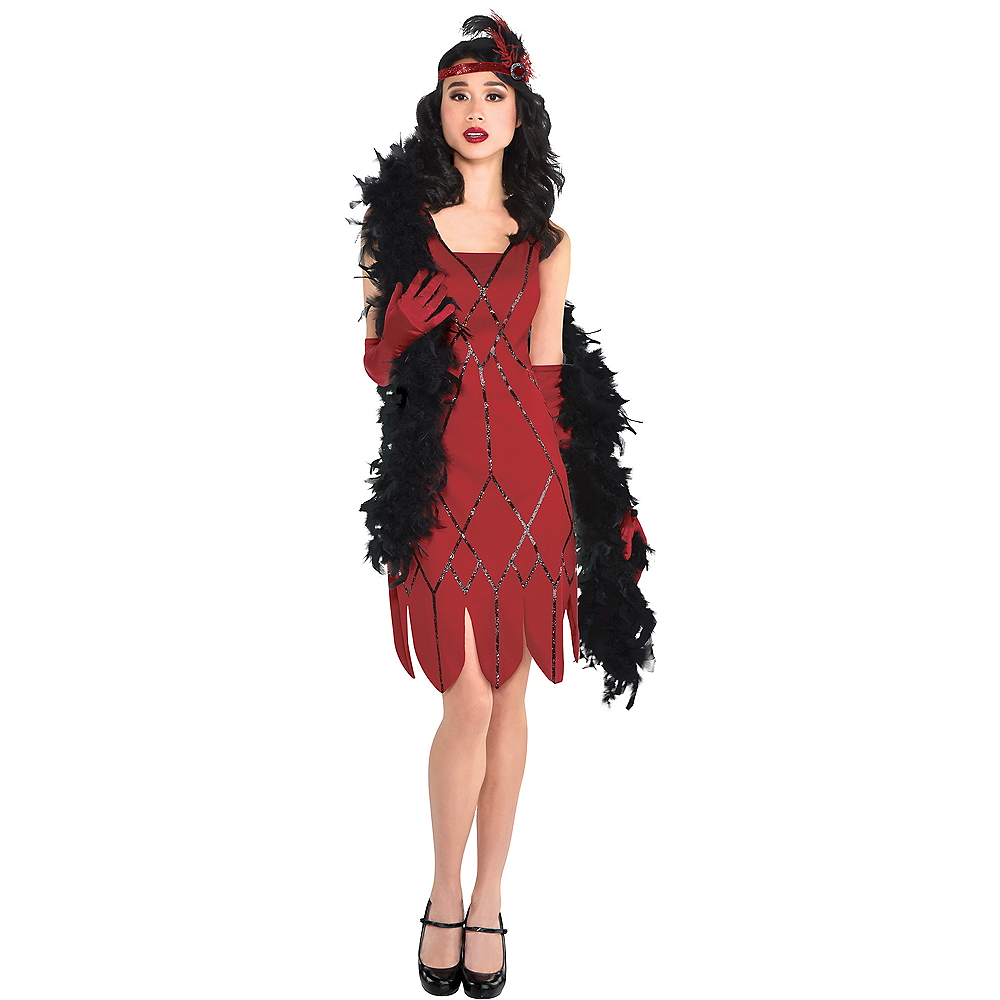 Adult Miss Scarlet Costume - Clue Image #1