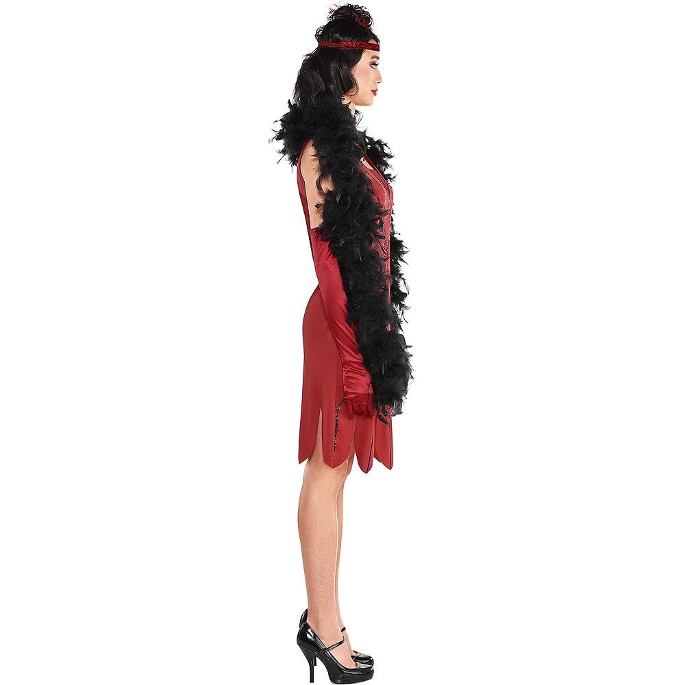 Adult Miss Scarlet Costume - Clue Image #2