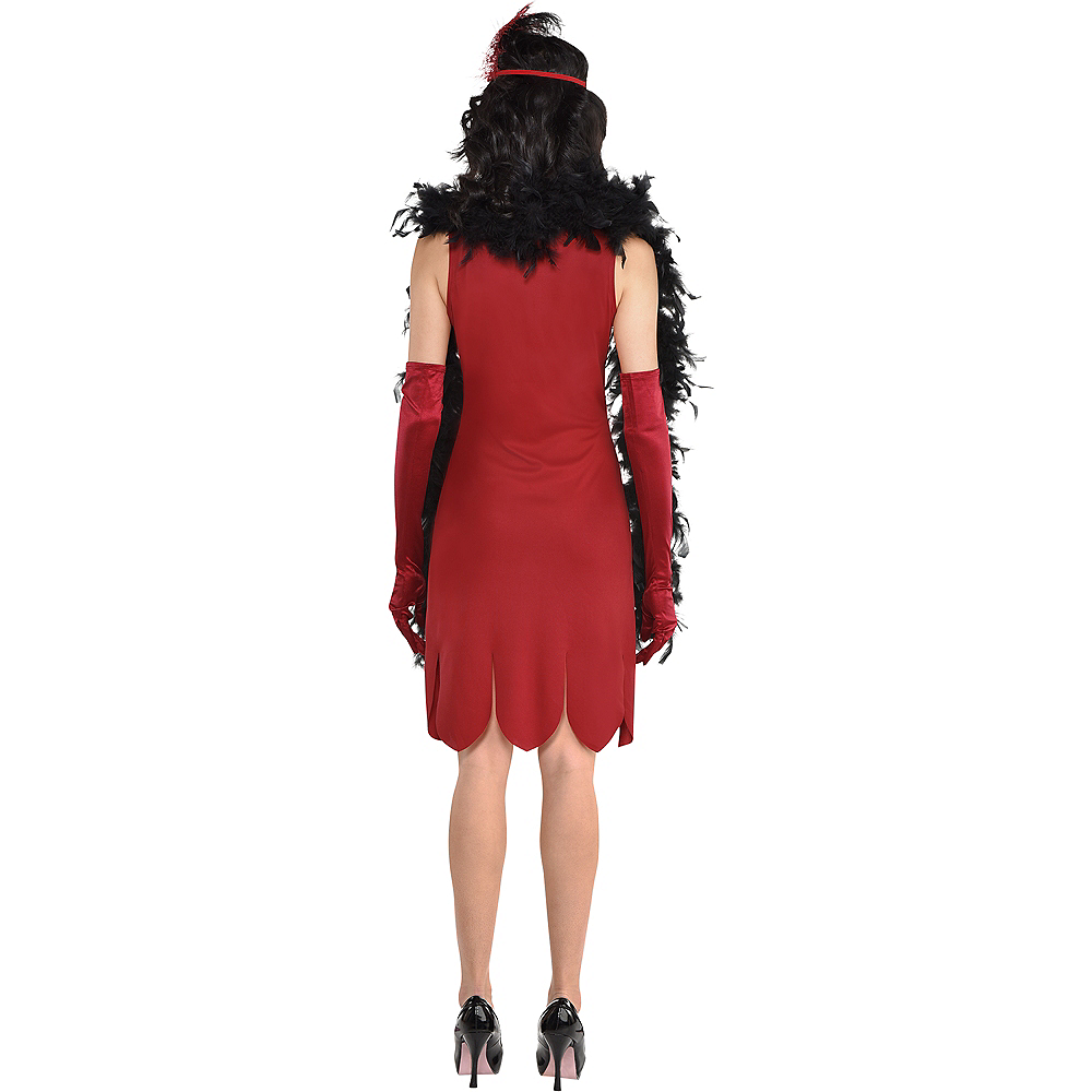 Adult Miss Scarlet Costume - Clue Image #3