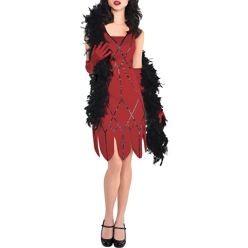 Adult Miss Scarlet Costume - Clue Image #4