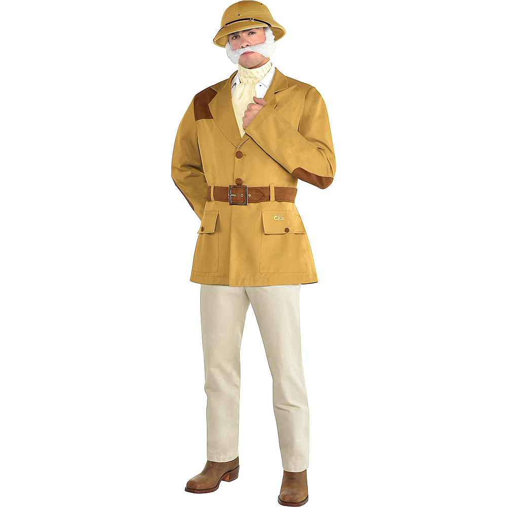 Nav Item for Adult Colonel Mustard Costume - Clue Image #1