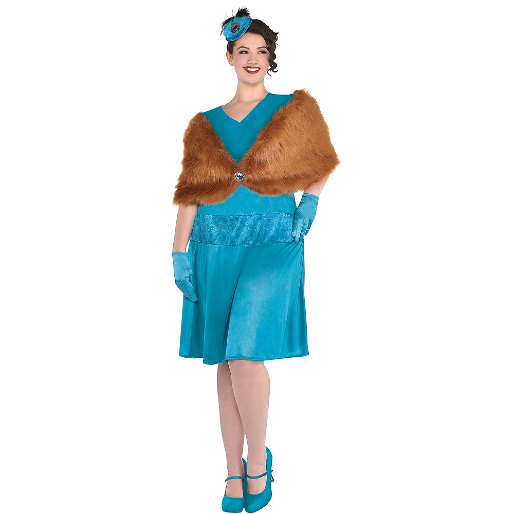 Adult Mrs. Peacock Costume Plus Size - Clue Image #1