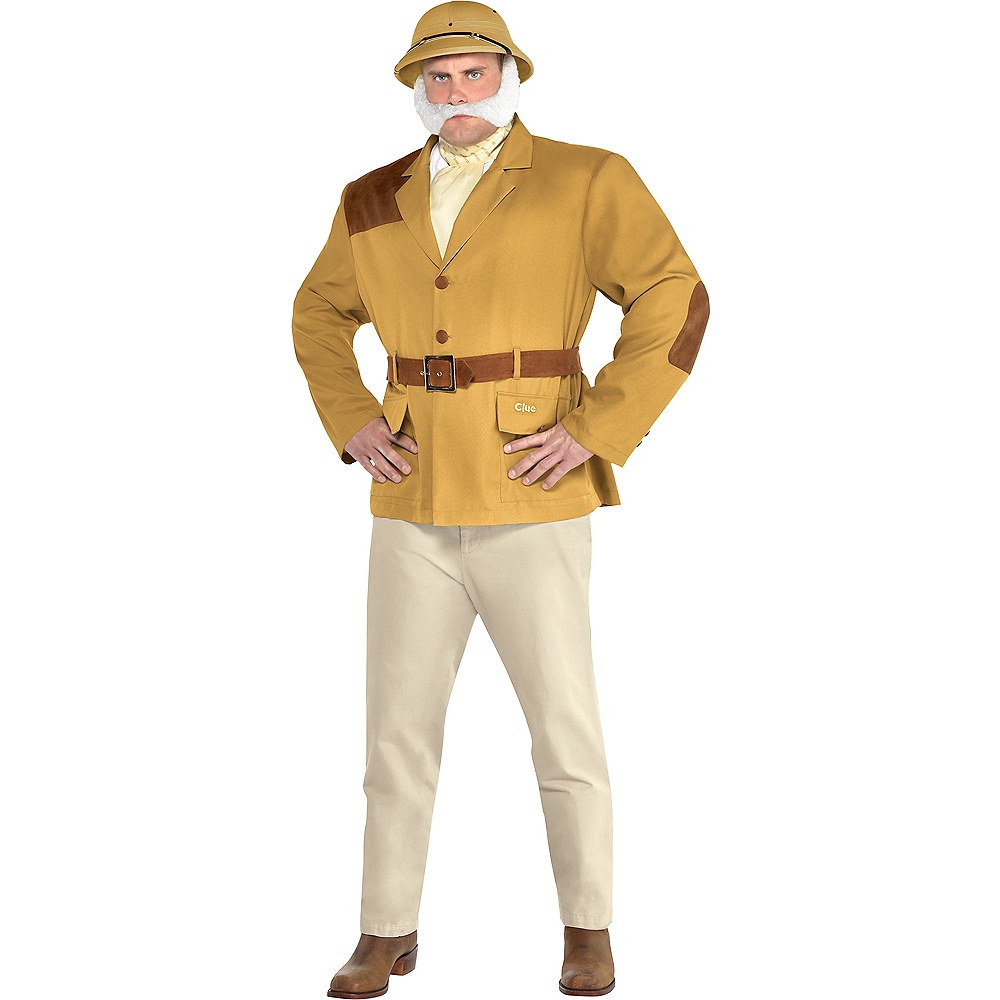 Adult Colonel Mustard Costume Plus Size - Clue Image #1