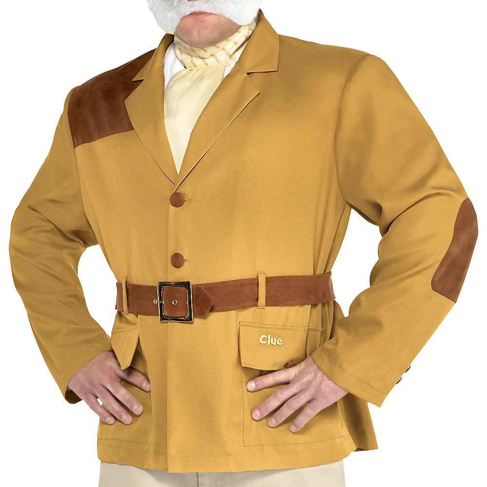 Adult Colonel Mustard Costume Plus Size - Clue Image #4