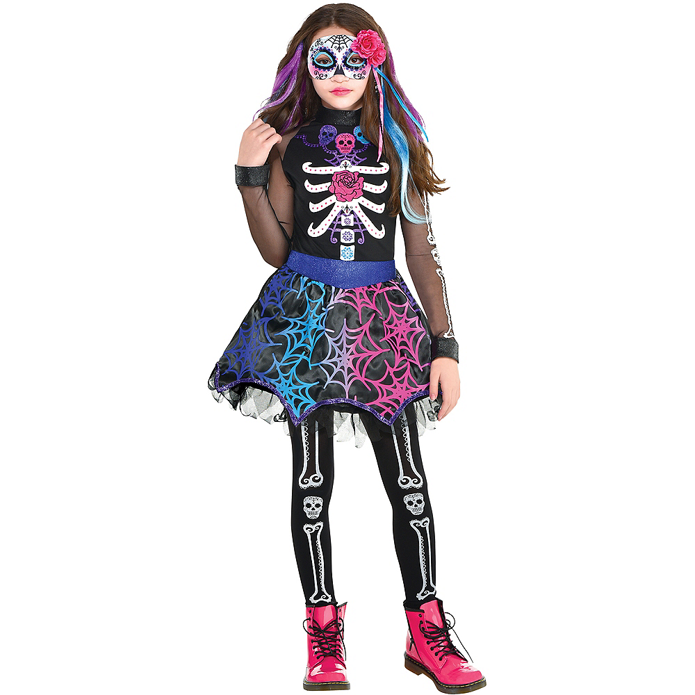 Nav Item for Child Trendy Day of the Dead Costume Image #1