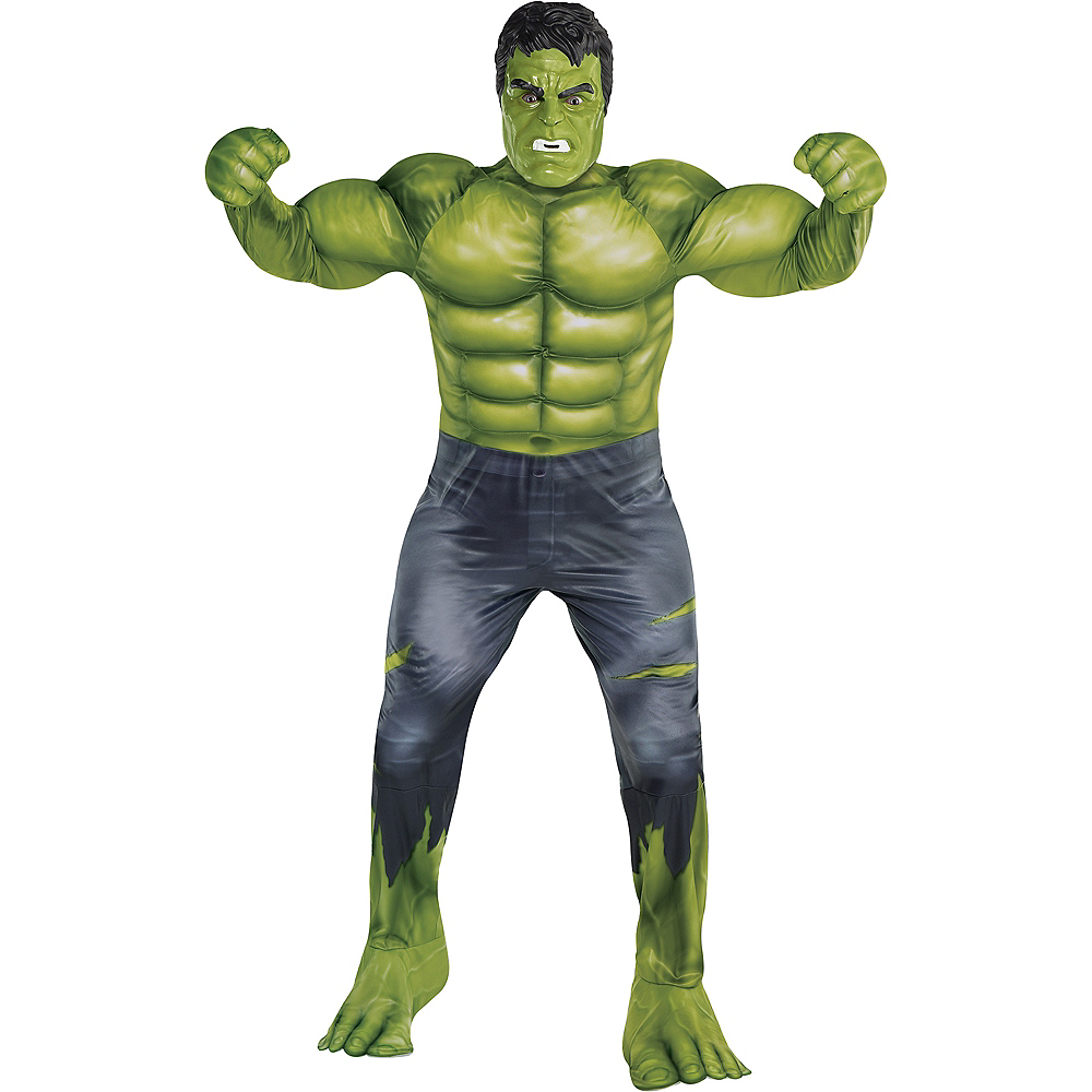 Nav Item for Adult Hulk Muscle Costume Plus Size - Avengers: Endgame Image #1