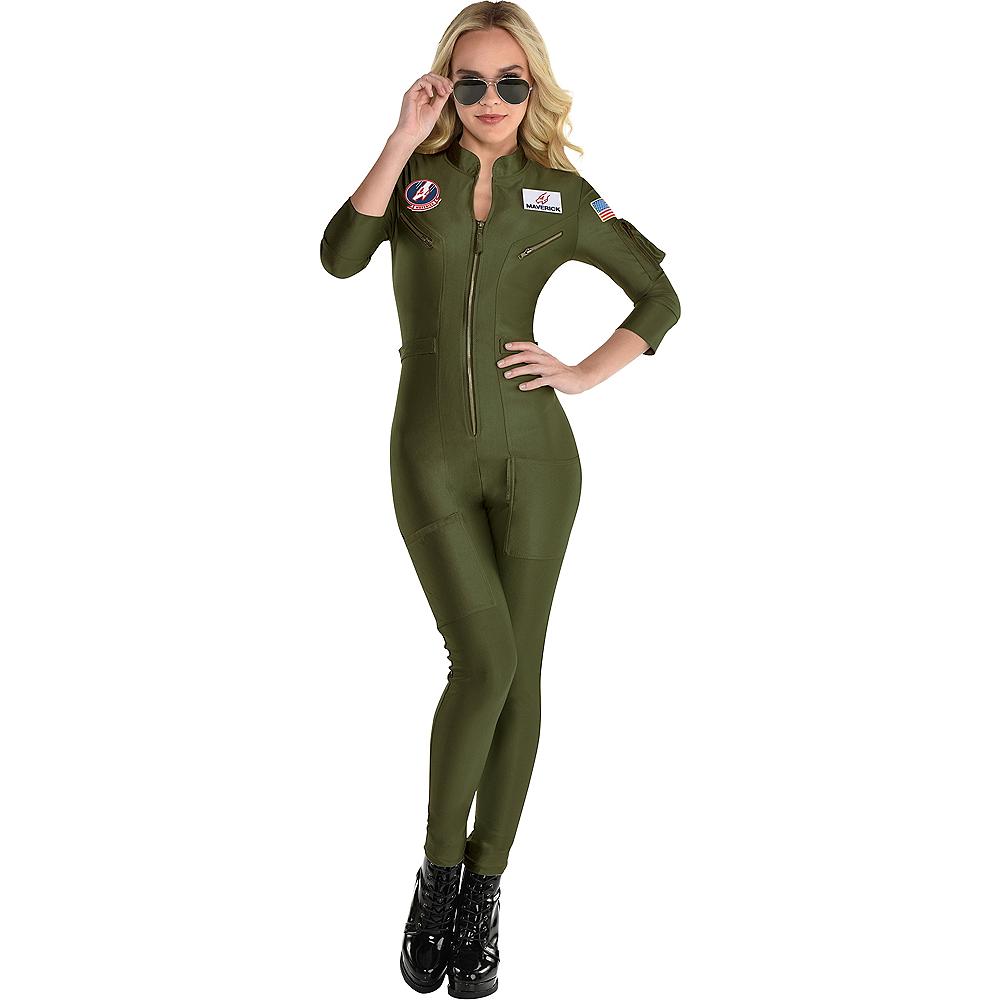 Maverick Flight Suit Costume for Women - Top Gun 2 Image #1