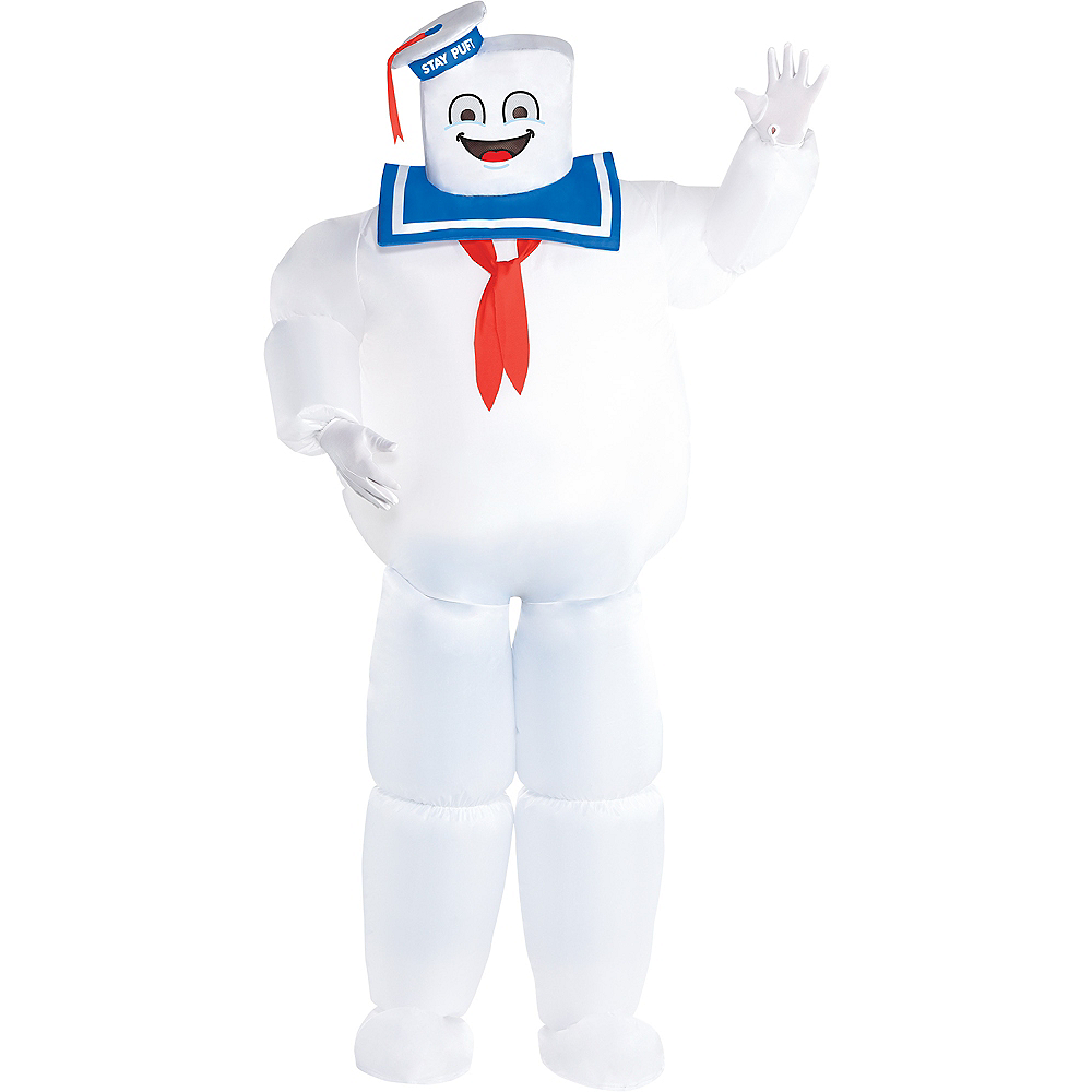 Adult Classic Inflatable Stay Puft Marshmallow Man Costume Plus Size - Ghostbusters Image #1