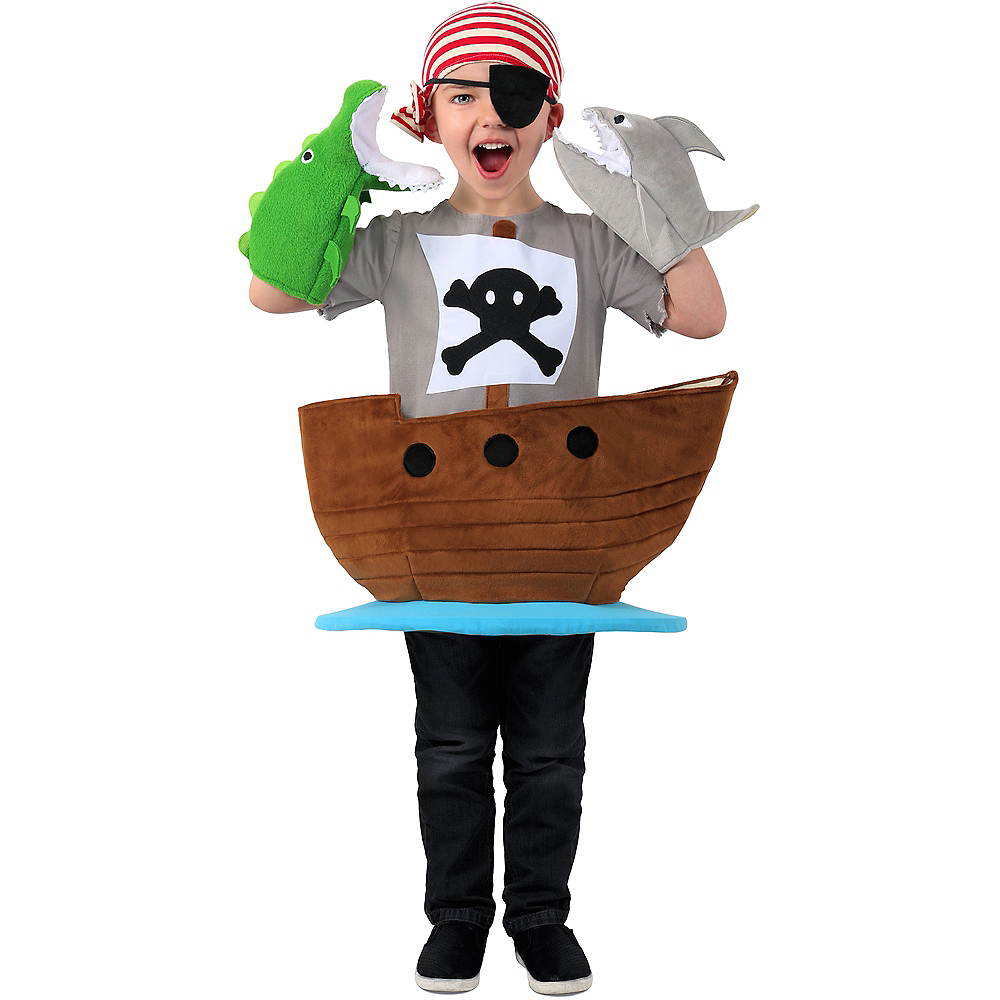 Child Pirate Ship Costume Image #1