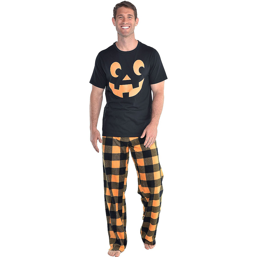 Nav Item for Mens Jack-o'-Lantern Pajamas Image #1