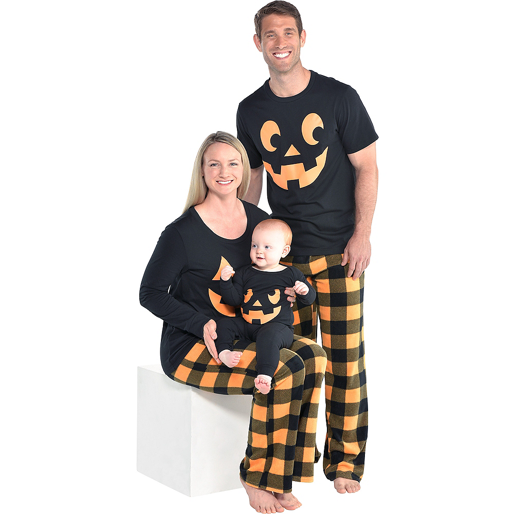 Nav Item for Mens Jack-o'-Lantern Pajamas Image #2