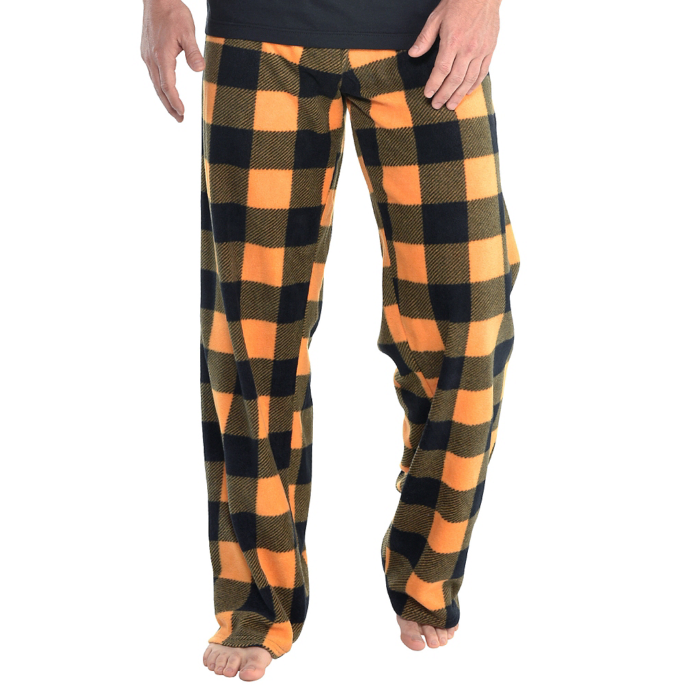 Nav Item for Mens Jack-o'-Lantern Pajamas Image #5