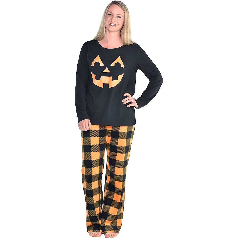 Nav Item for Womens Jack-o'-Lantern Pajamas Image #1