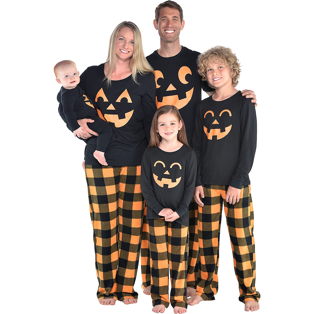 Nav Item for Womens Jack-o'-Lantern Pajamas Image #2