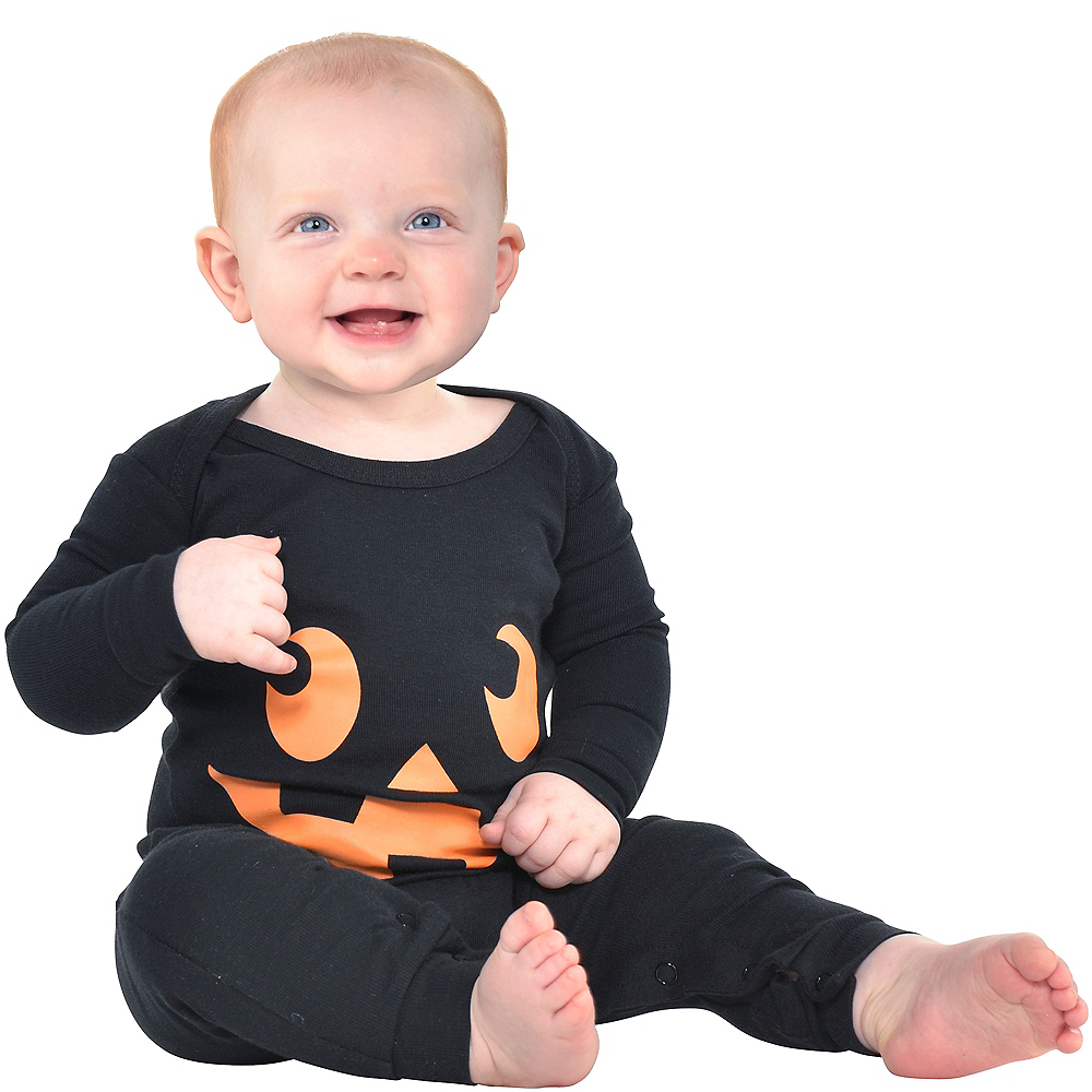 Nav Item for Baby Jack-o'-Lantern One Piece Pajamas Image #1