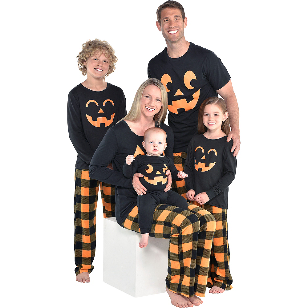 Nav Item for Baby Jack-o'-Lantern One Piece Pajamas Image #2