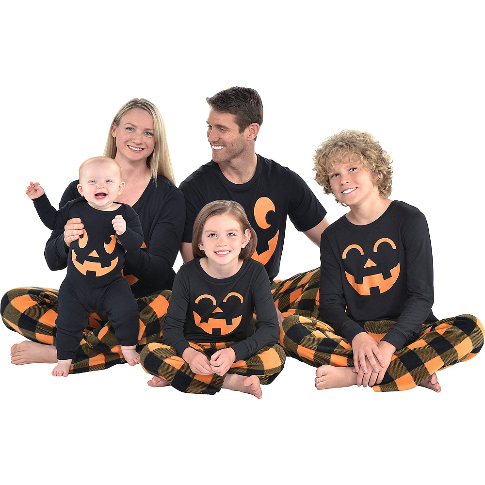 Nav Item for Baby Jack-o'-Lantern One Piece Pajamas Image #5
