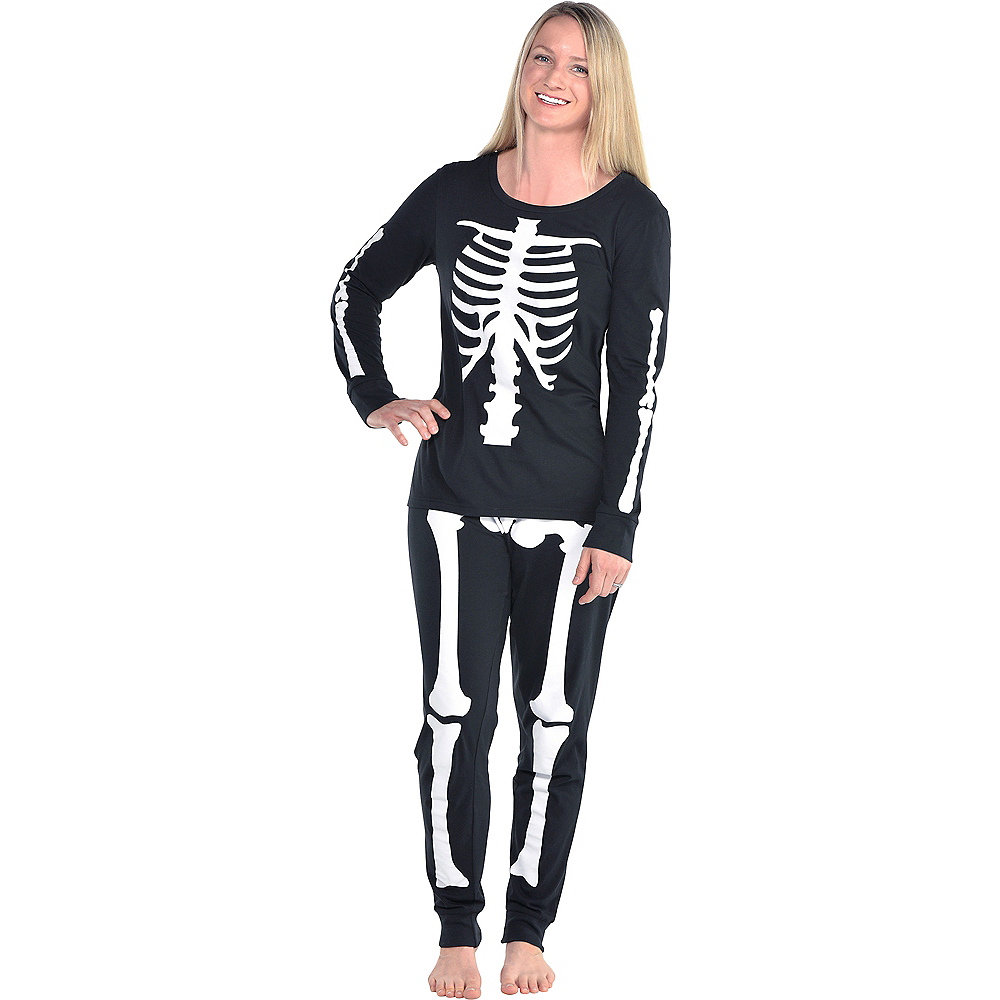 Womens Skeleton Pajamas Image #1