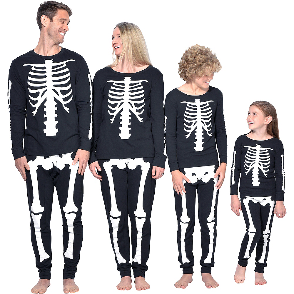 Womens Skeleton Pajamas Image #4