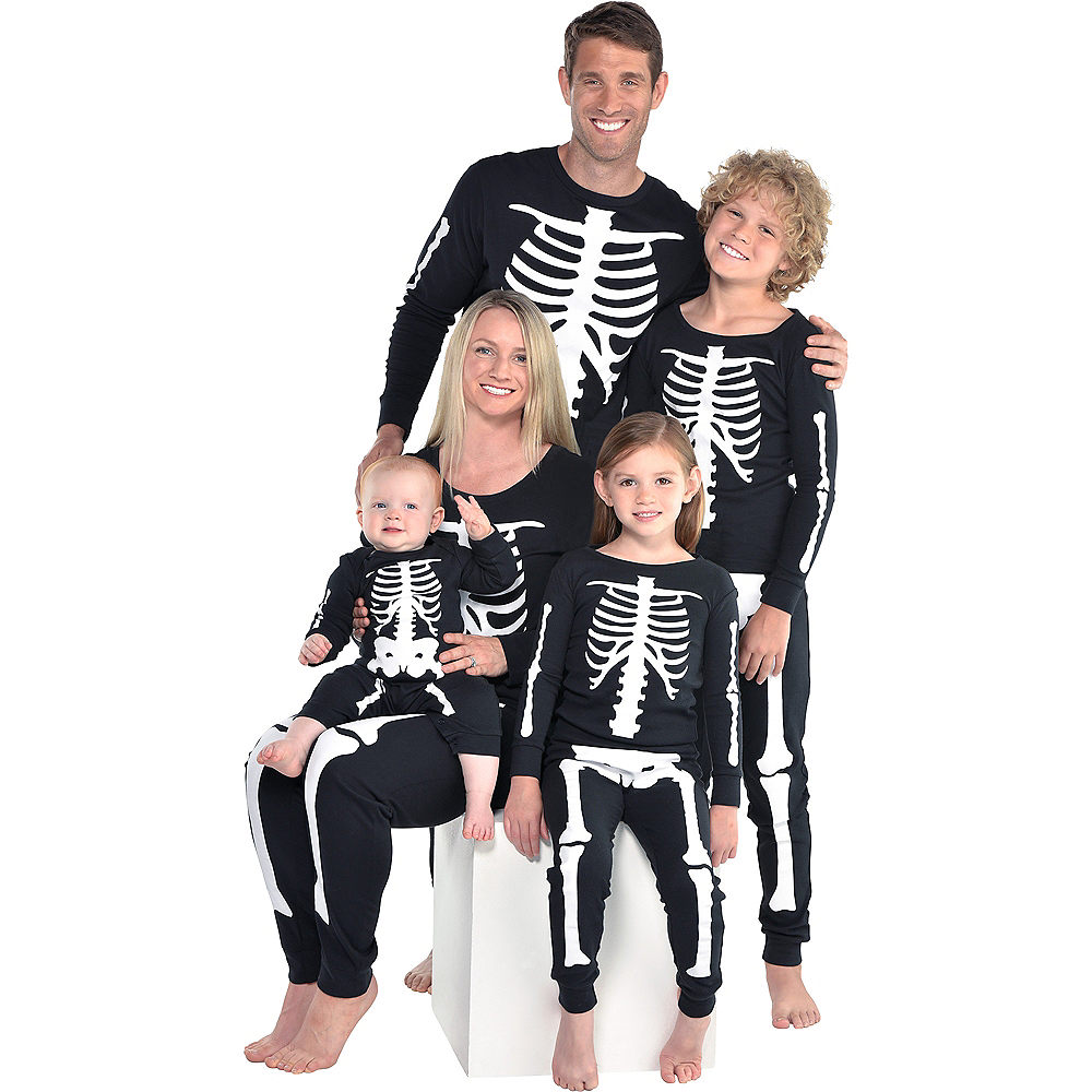 Womens Skeleton Pajamas Image #6